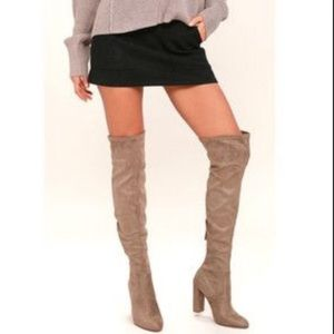 733177f1f12 Steve Madden Shoes - Steve Madden Slayer Over the Knee tan taupe Boot